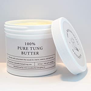 100% Pure Tung Butter - Seals and Protects Fine Wood | Food Safe | Pet Safe | Petroleum Free