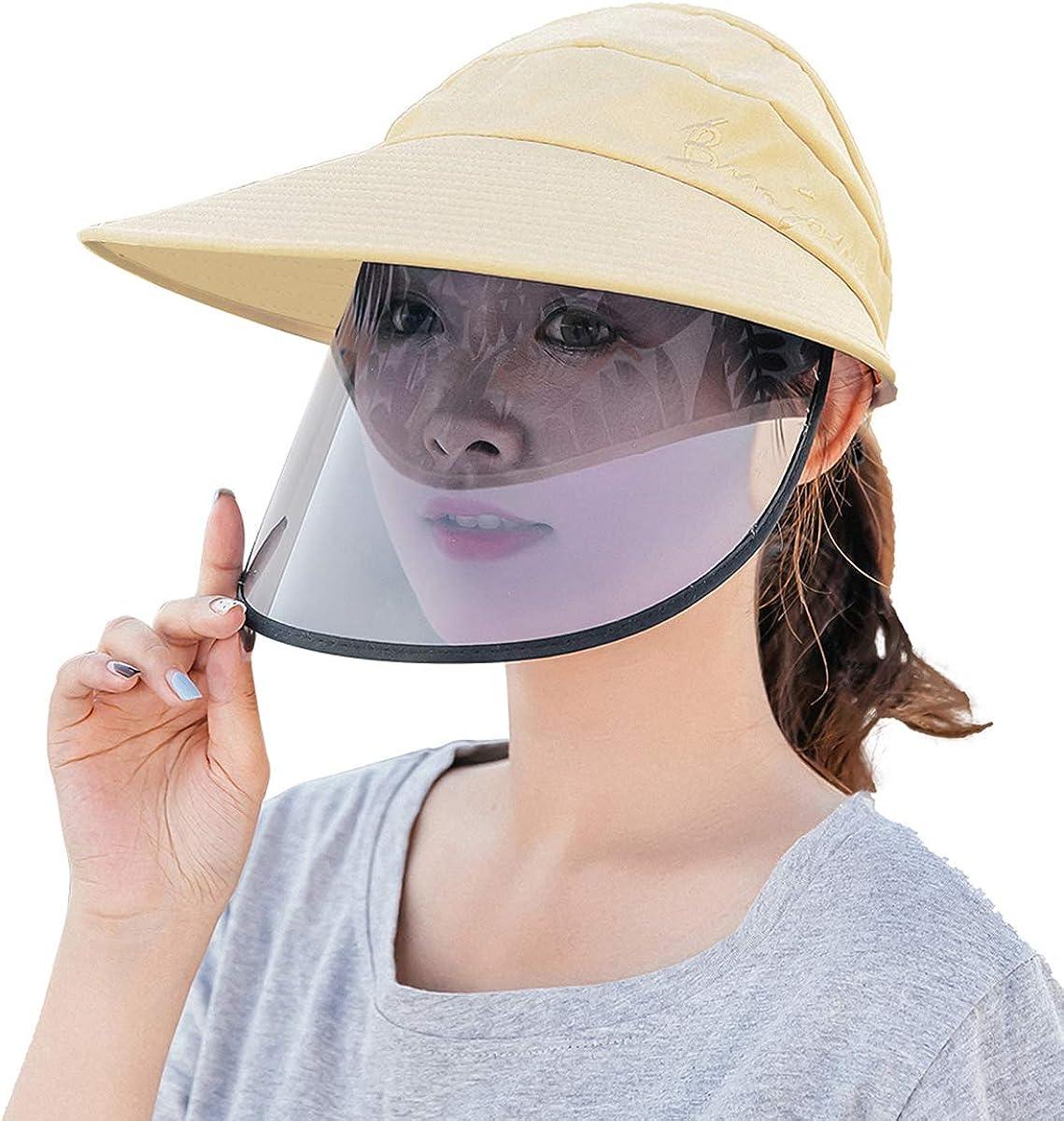 FEOYA Unisex Safety Face Shield Hat Visor UV Protection Summer Beach Hat for Outdoor