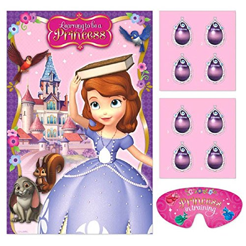 Disney Sofia The First Princess Birthday Party Game Activity Supplies (4 Pack), Pink/Purple, 37 1/2