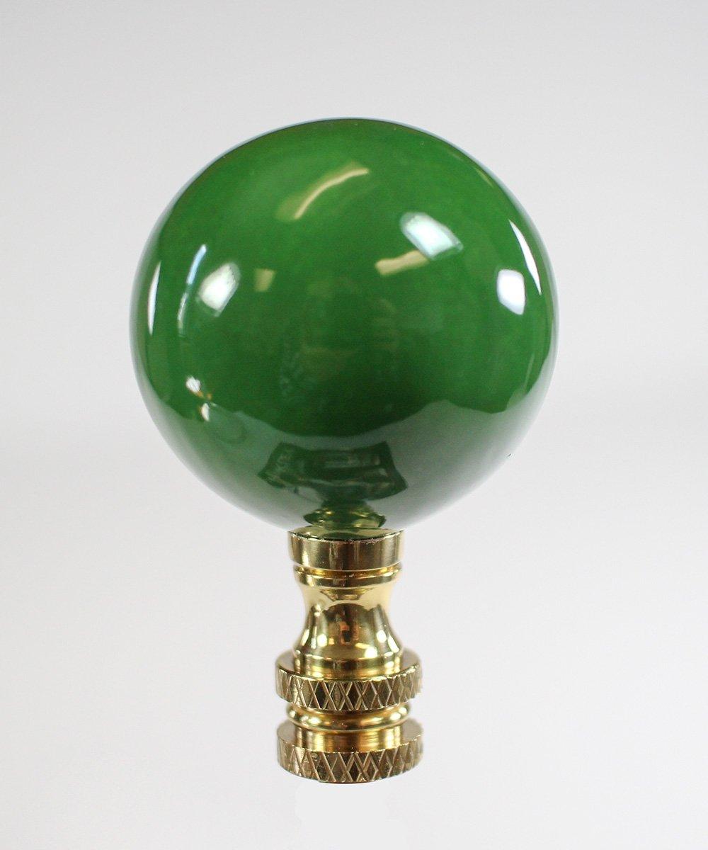 Hunter Green Ceramic Ball Finial 2.25'' h