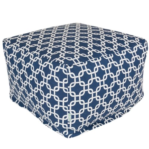 Majestic Home Goods Links Ottoman, Large, Navy Blue by Majestic Home Goods