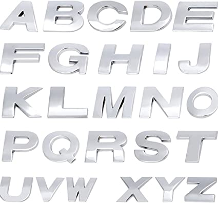 Metal Sticker Letters 3D Emblem Chrome Number 40 Pcs DIY Car Logo Text Decal New