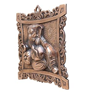 APKAMART Handcrafted Lord Ganesh Wall Hanging -12 Inch - for Wall Decor, Room Decor and Gifts