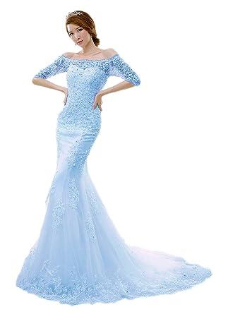 afb1b2419 vimans Women s 2016 Sexy Strapless Mermaid Lace Bridal Wedding ...