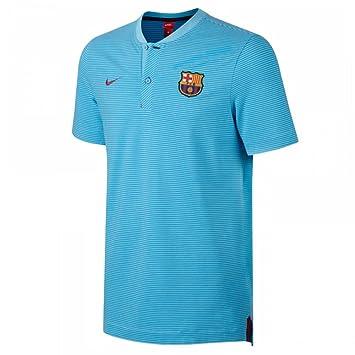 2017-2018 Barcelona Nike Authentic Polo Shirt (Blue)  Amazon.es  Deportes y  aire libre e4d8219fc7af0