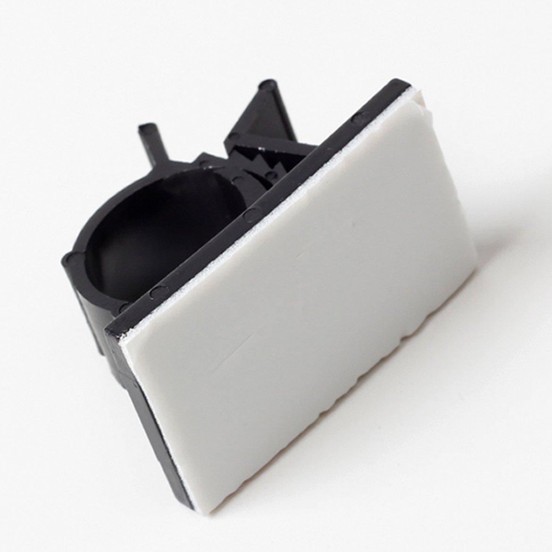 R 25 Stueck schwarz Selbstklebende Nylon Leitungs einstellbar Kabelschellen Clips SODIAL