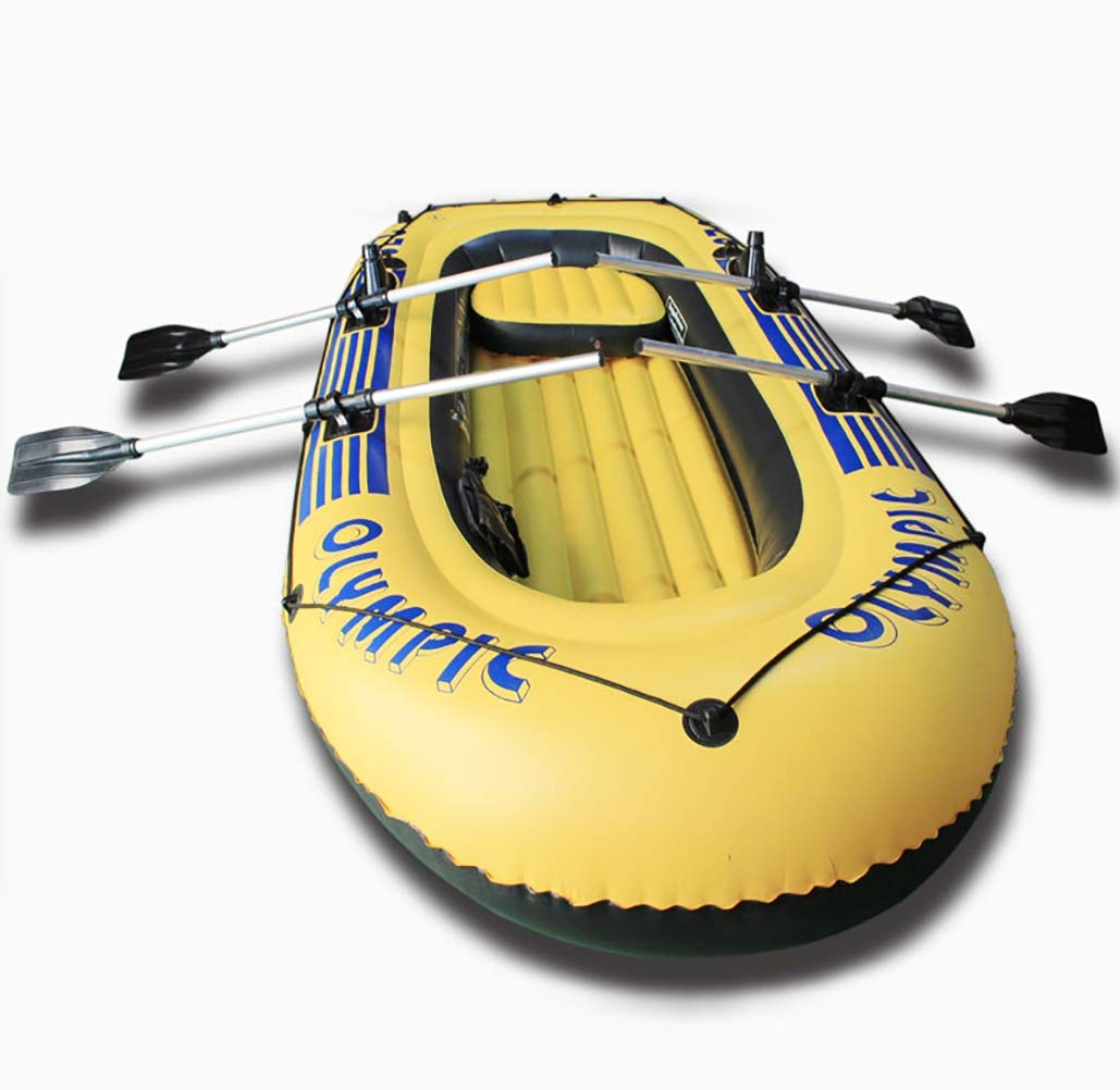 5-Person Inflatable Boat Set with Aluminum Oars and High Output Air Pump by POTA