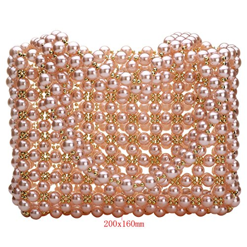 Pearl Bag Purses Evening Party Luxury Pink Womens Wedding Handbag Beautiful Bag fit qtUBUnWEv