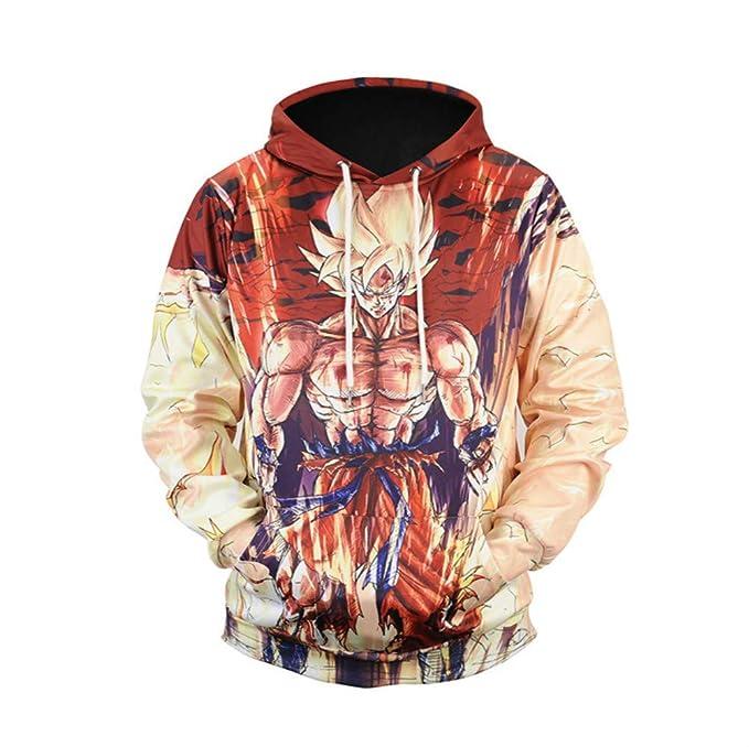 Amazon.com: Sweatshirt Dragon Ball Z Hoodies Sudaderas Anime Goku 3D Print Jacket: Clothing