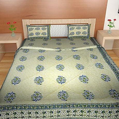 TRADITIONAL MAFIA RSES444318 4PCS Set Quilt 88 X 102 Bedsheet 90 X 108 Pillow Cover Regular Multicolor 4 Piece