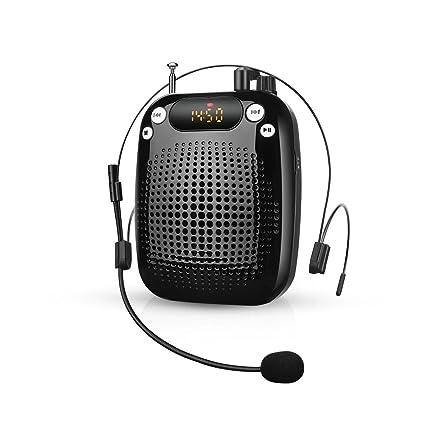 YOHOOLYO Amplificador de Voz Portátil Ultraligero Rechargeable con Micrófono para Profesores Trainer Guía ect.