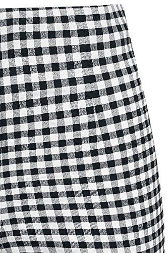 Hell Bunny Judy Capris Pantalones Mujer negro-blanco negro-blanco