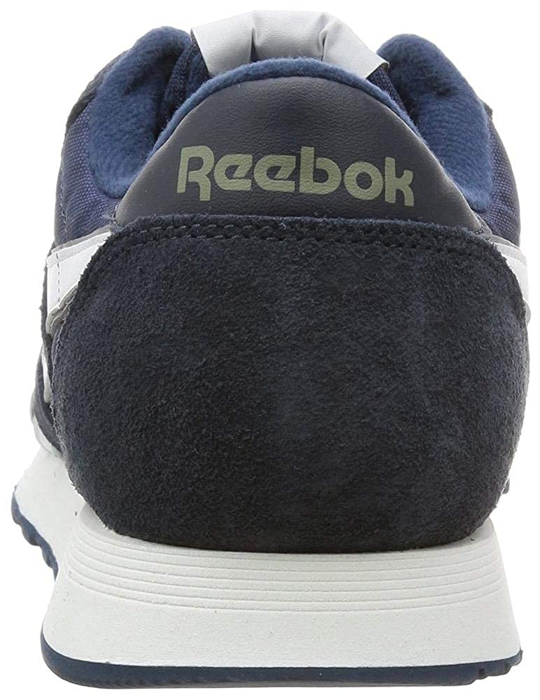 Amazon.com | Reebok Mens Classic Sneaker, team navy/platinum, 5 M US | Fashion Sneakers