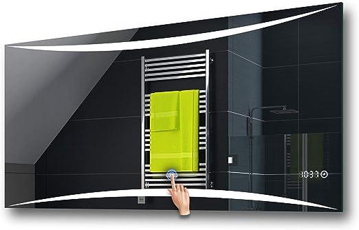 FORAM Design Badspiegel mit LED Beleuchtung, Touch Schalter