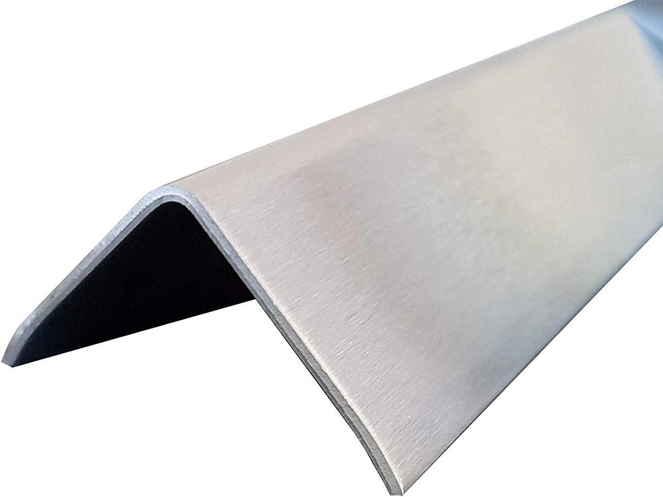 K240,0,8mm stark 3-fach gekantet 1,5 Meter Winkel Kantenschutz Edelstahl 3fach Winkelblech Kantenschutzprofil Edelstahl Winkel