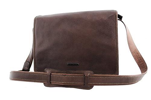 88f362418f5 Katana - Bolso al hombro de Piel para hombre Marrón chocolate  Amazon.es   Zapatos y complementos