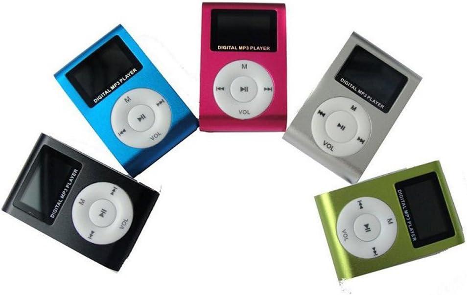 NO MEMORY//SD Card Delleu Mini Metal MP3 Support Micro SD TF USB Clip MP3 Player for Sports Running