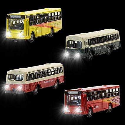 Led Lights For Cars >> Amazon Com Ebs15002 4pcs 1 150 Model Lighted Cars Bus With 12v Led