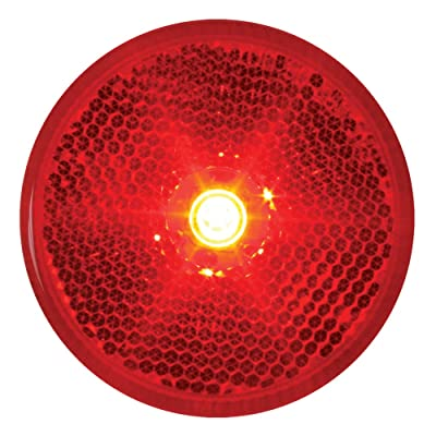"Grand General 76422 Fleet Series Red 2-1/2"" Reflector Style LED Sealed Marker/Clearance Light: Automotive"