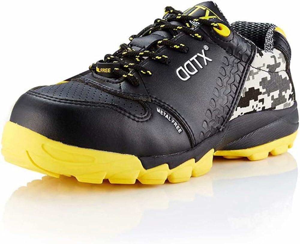 DDTX Botas de Seguridad Hombre (Puntera Compuesta, Entresuela de Kevlar, Antiestáticos, S1P) Zapatos de Seguridad para Trabajo Cómodas Transpirables Negro