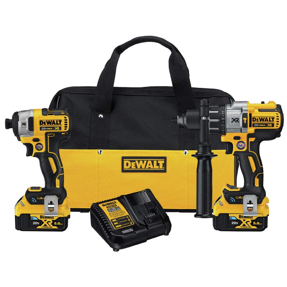 DEWALT DCKTC299P2BT Tool Connect 20V Max 2-Tool Combo Kit with Bluetooth Batteries