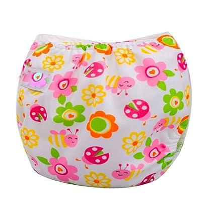 Sannysis® Bebé Pañales Lavables Pañal Reutilizable Insertos (C)