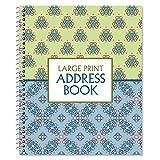 Fresh Patterns Large Print Address Book, 56 Pages, 7'' x 8-1/2'', Large Print