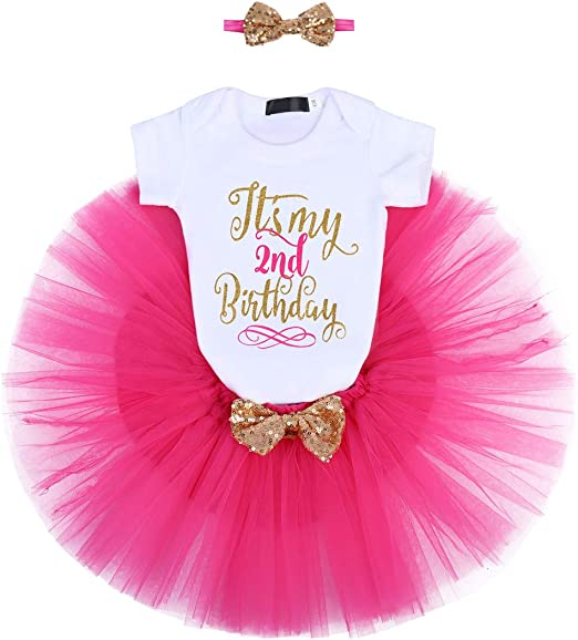 Pink and Gold Tutu Dress Girls Valentines Dress 2nd birthday 2T months size