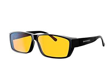 49bd789ef2 Image Unavailable. Swanwick Sleep Fitover Blue Light Blocking Glasses and  Computer Eyewear - Wear OVER your Prescription Glasses