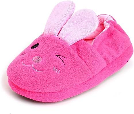 Estamico Toddler Girls Bunny Slippers Cartoon Rabbit Warm House Shoes Indoor//Outdoor