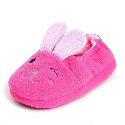 15228e93604 Estamico Toddler Girls  Bunny Slipper Pink US ...