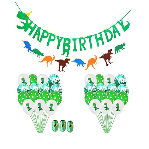 BIGBOBA. 32pcs Dinosaurio Cumpleaños Set-Dinosaurio Happy ...