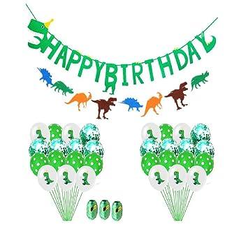 vikenner 1 Set Cumpleaños Dinosaurio Globo decoración ...