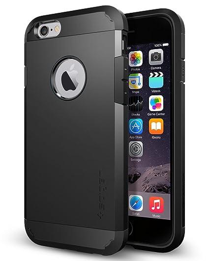 best service 36907 c9226 Spigen iPhone 6/6S Case Tough Armor Series (Smooth Black) (SF coated)  SGP10968