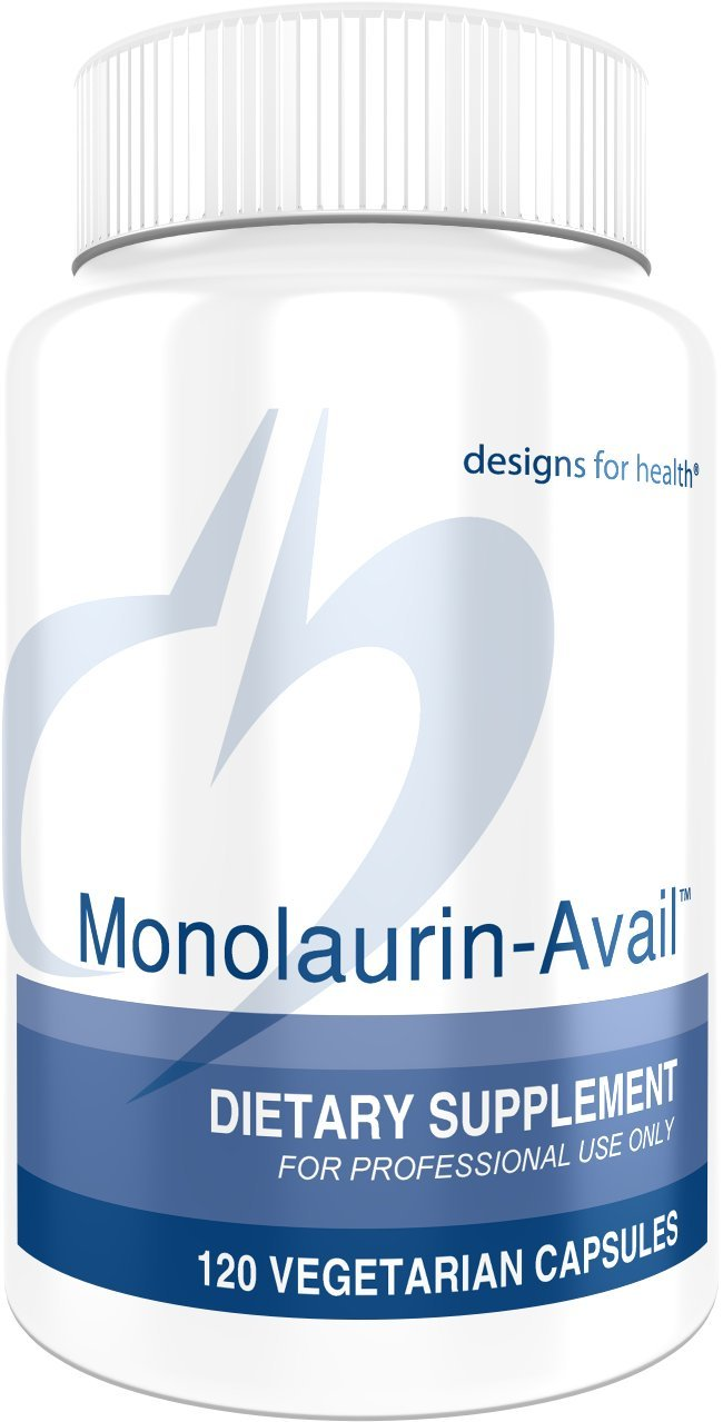 Designs for Health - Monolaurin-Avail - 1000mg Glycerol Monolaurate + Vitamin C Immune Support, 60 Servings by designs for health (Image #1)