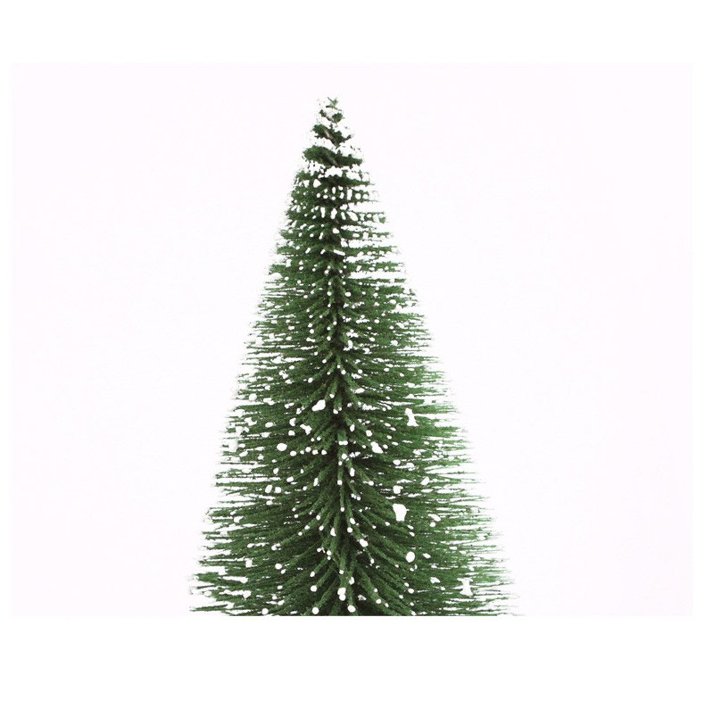 Barlingrock Mini Christmas Tree Decor,Artificial White Cedar Tree with a Stick Stand,10-30cm Small Xmas Tree for Home/Office/Coffee Shop/Restaurant Holiday Decorations (C-20cm)
