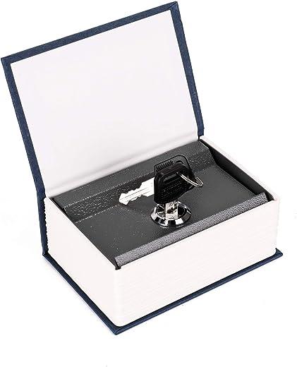 صندوق قاموس صندوق آمن من ديكديل بقفل أمان مخفي للعملات النقدية خزانة مفاتيح هدية للأطفال