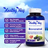 100 Pure Resveratrol - 1000mg Max Strength 180 Capsules Natural Trans Resveratrol Antioxidant Supplement Pills for Weight Loss amp Heart Health - Trans Resveratrol for Anti Aging Discount