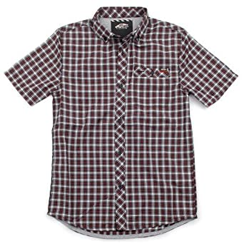 Vans Ravenna Kinder Kurzarm Hemd Schwarz Grau Rot Kariert