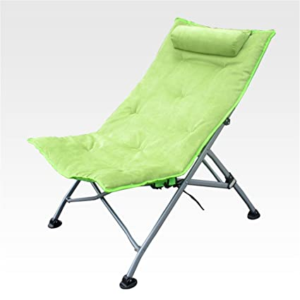Qiangzi Silla plegable de playa Silla reclinable Sillas ...