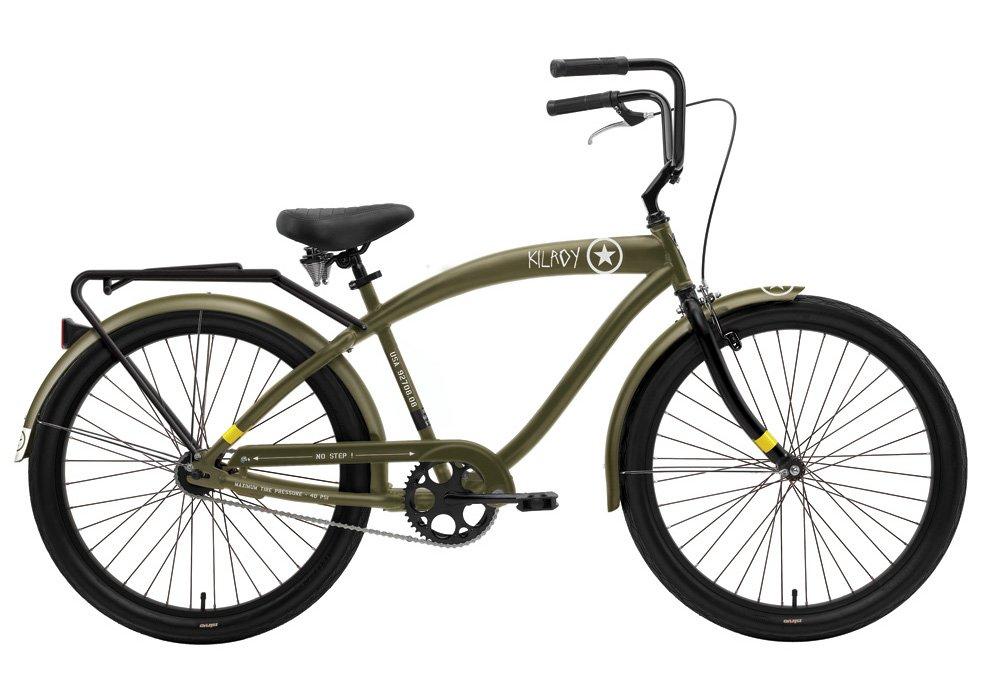 Amazon.com : Nirve Kilroy Men\'s Single Speed Cruiser Bike with ...