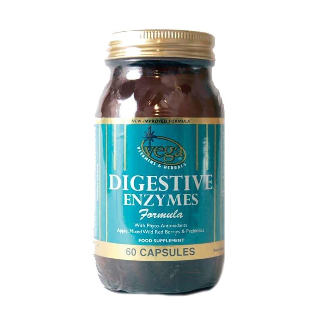 Vega | Digestive Enzymes | 1 x 60 capsules: Amazon.es ...