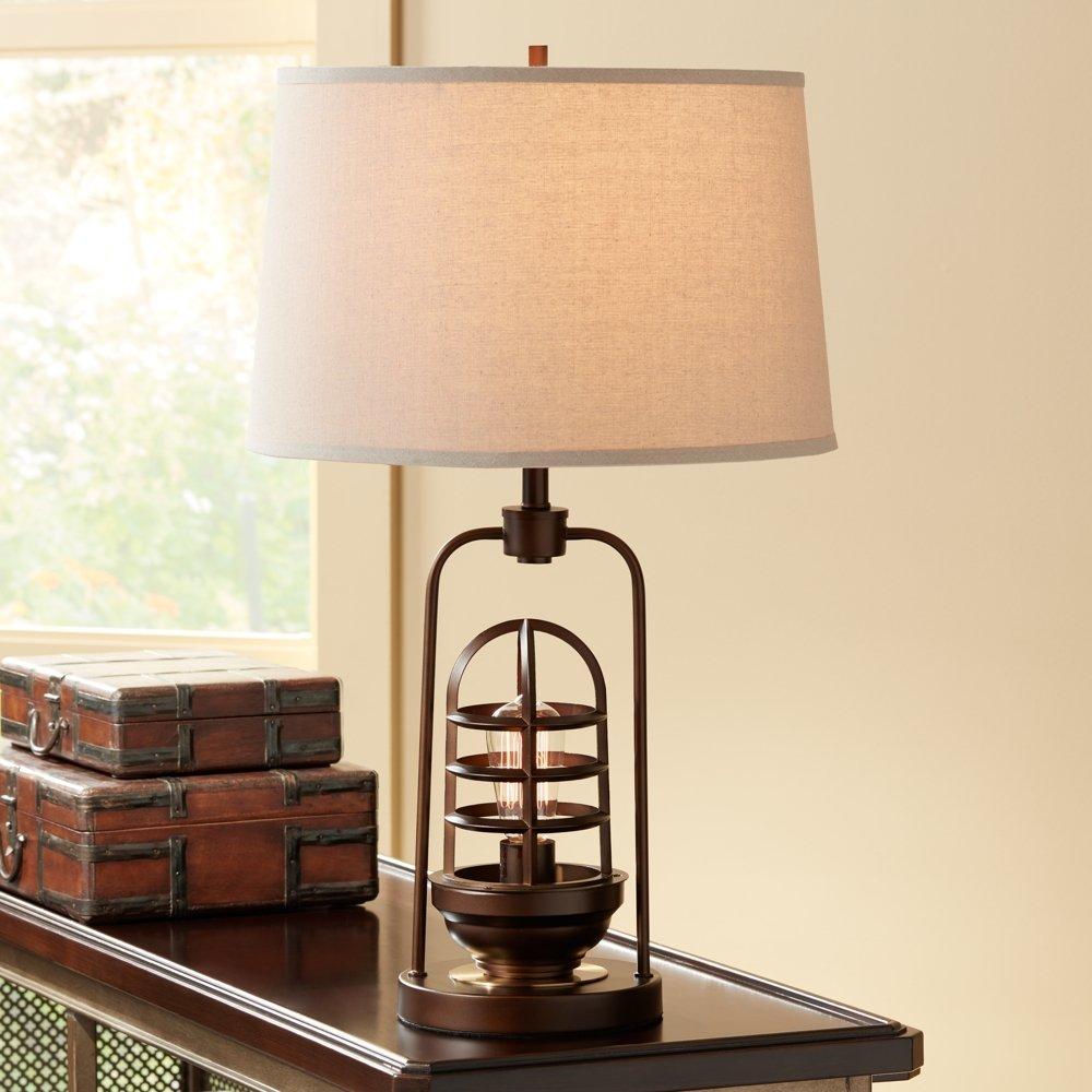 Hobie bronze nightlight cage table lamp amazon com