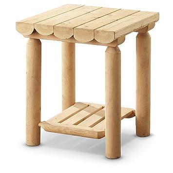 Amazon.com: CASTLECREEK - Mesa auxiliar de madera de cedro ...