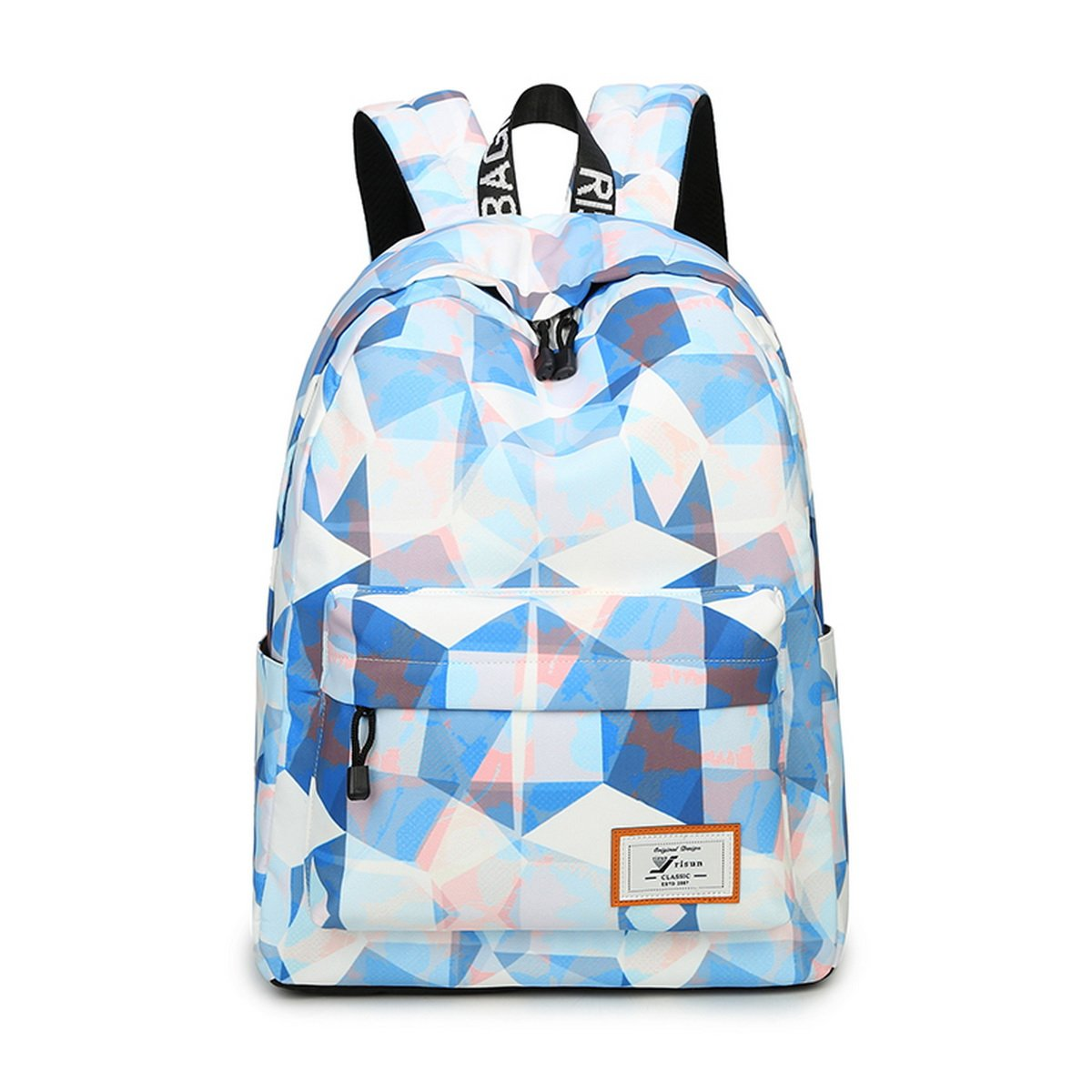 46d450b2ecf Joymoze Fashion Leisure Backpack for Girls Teenage School Backpack Women  Print Backpack Purse Blue and White