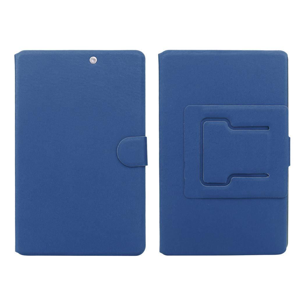 STORTO 3D Phone Screen Magnifier Stereoscopic Amplifying Desktop 8Inch Leather Bracket Approx. 19x 12.2cm // 7x4.72inch, Dark Blue