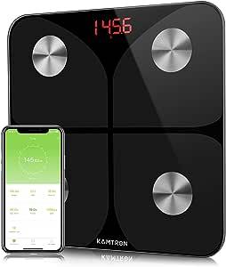 Báscula Grasa Corporal Báscula de Baño- Báscula Inteligente Bluetooth, Medición de Alta Precisión el Peso Corporal, Porcentaje de Grasa Crporal, Masa Muscular, IMC, Grasa Visceral
