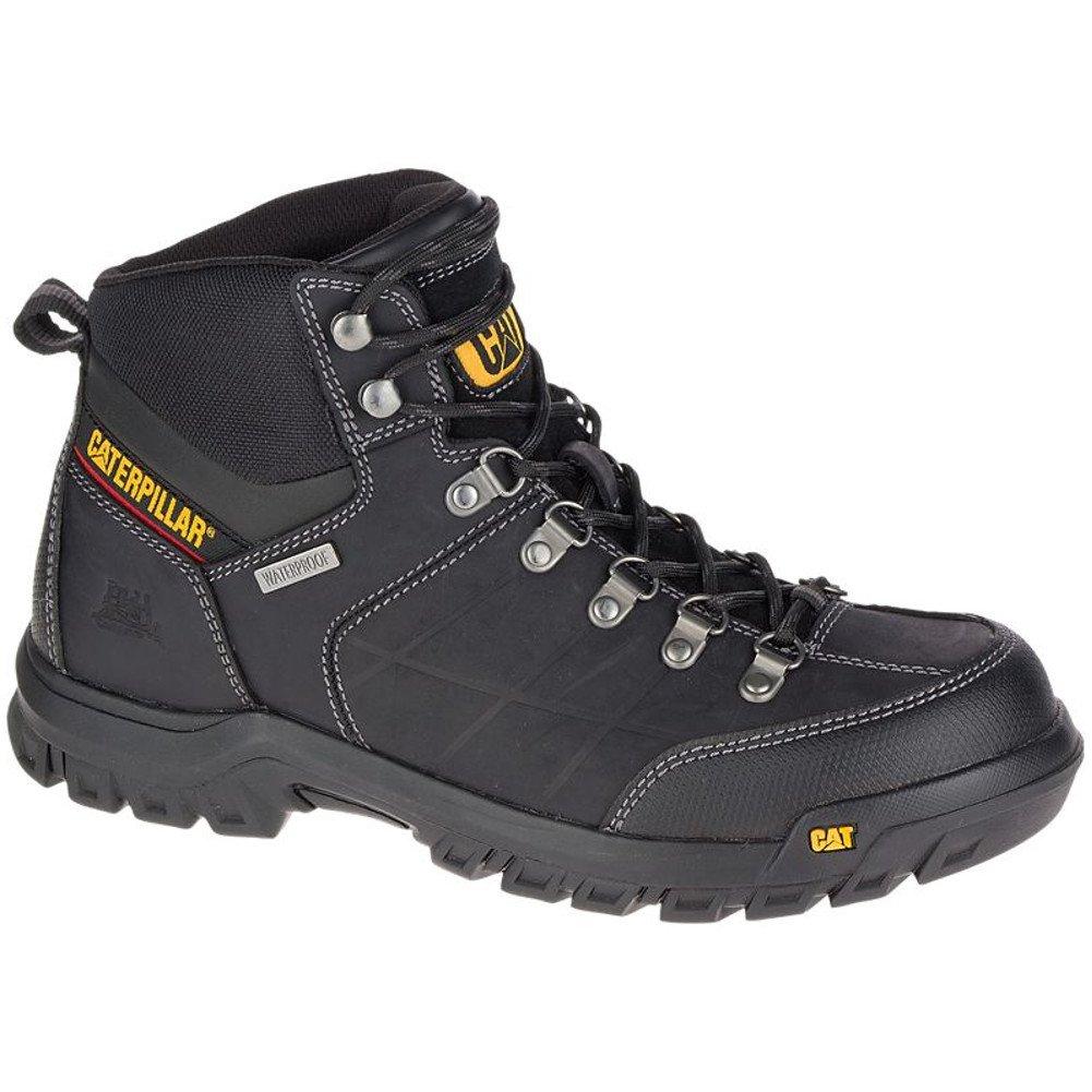 Caterpillar Men's Threshold Waterproof Work Boots, Black, 7.5 W