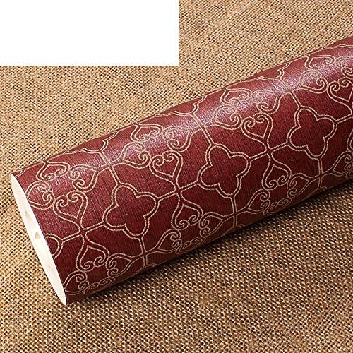 Wallpaper/Simple Plaid Wallpaper/Non-Woven Wallpaper/Embossed Floral Wallpaper/Background Wallpaper for Living Room-B
