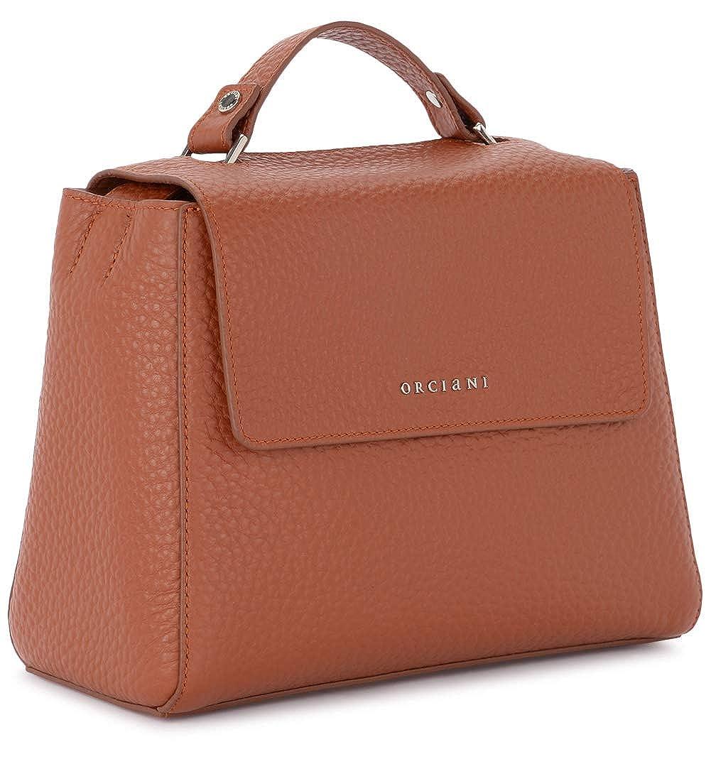 Orciani Women s Orciani Sveva Small Tobacco Tumbled Leather Handbag Brown   Amazon.co.uk  Clothing 237a9d20f6f14
